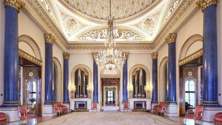 La sala de música del Palacio de Buckingham