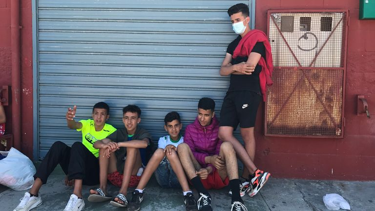 More than 1,500 children and teenagers have arrived in Ceuta this week