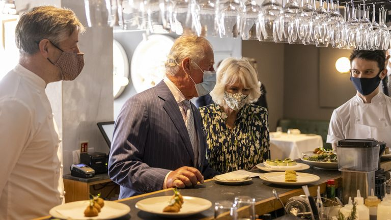 The Trinity was hosting a lunch to celbrate the 40th anniversary of the Royal Academy of Culinary Arts, of which the prince is patron