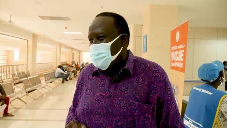 Dr Isaac Maker, medical director at Juba's Teaching Hospital said he worries there will be a big outbreak in South Sudan as people are not taking the vaccine
