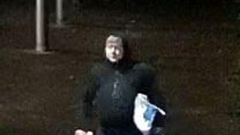 A suspect Dorset police want to speak to over anti-COVID graffiti