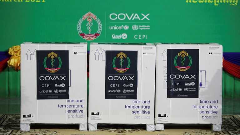 The halt in exports is a blow to the Covax programme to provide jabs to poorer nations