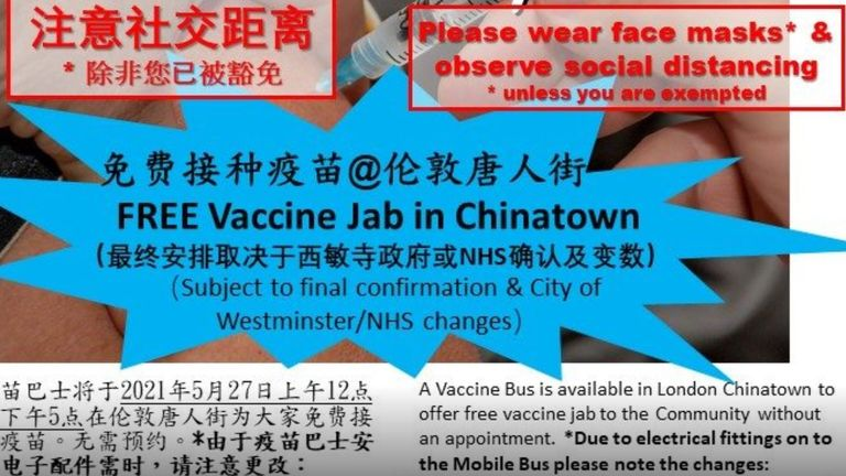 The advert was posted on the Chinese Information and Advice Centre website