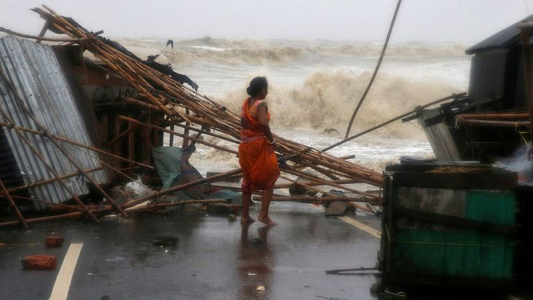 Odisha state has seen widespread damage to homes and buildings