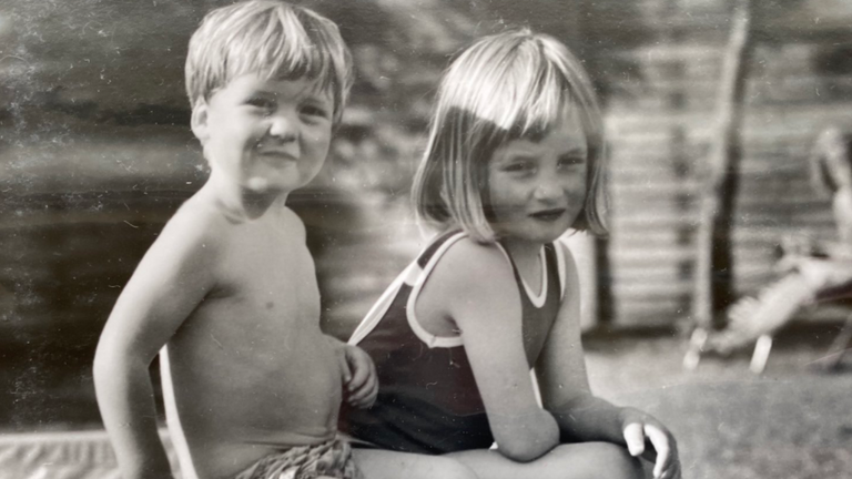 A an image of a young Princess Diana with her brother, Earl Spencer, was shared by the earl before the BBC's report was relesased