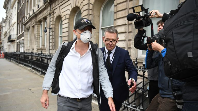 Dominic Cummings arrives at Portcullis House on Wednesday