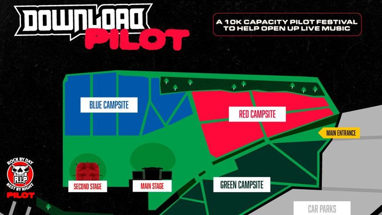 The pilot will play host to 10,000 fans. Pic: Download Festival