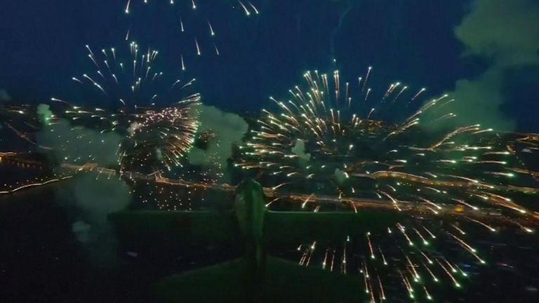 Drone firework