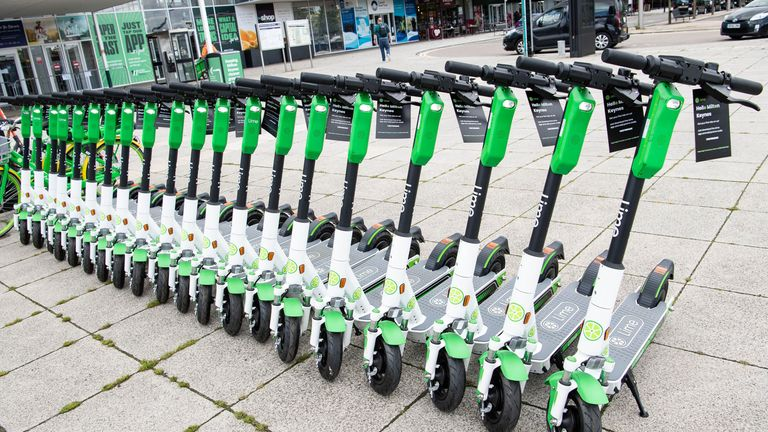 An e-scooter trial is taking place in Milton Keynes