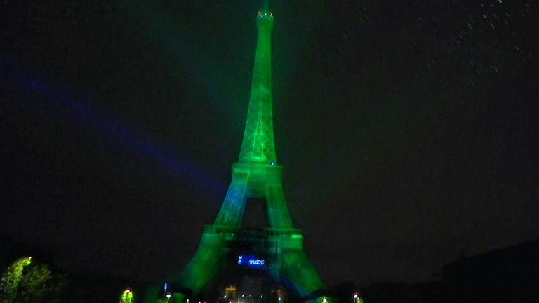 For for the first time, Paris' Eiffel Tower has been illuminated using electricity produced from certified renewable hydrogen.