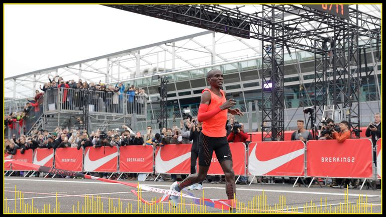 Kipchoge came close to running a marathon in under two hours in Monza, Italy, in 2017