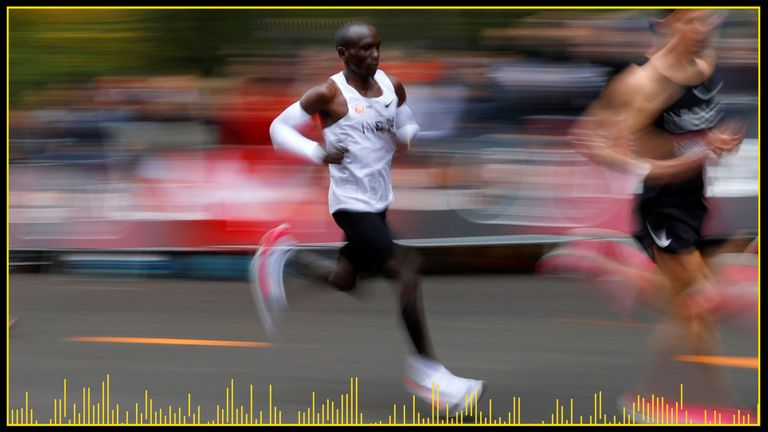 Eliud Kipchoge set out to run a marathon in under two hours
