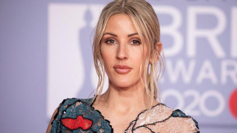 Ellie Goulding at the Brit Awards 2020 in London. Pic: AP