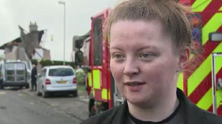18 year-old Emillie Downie was still awake at 2:40am when the blast occurred