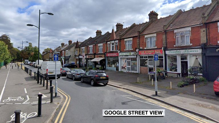 Three of the children were found vomiting uncontrollably outside shops in Epsom, Surrey