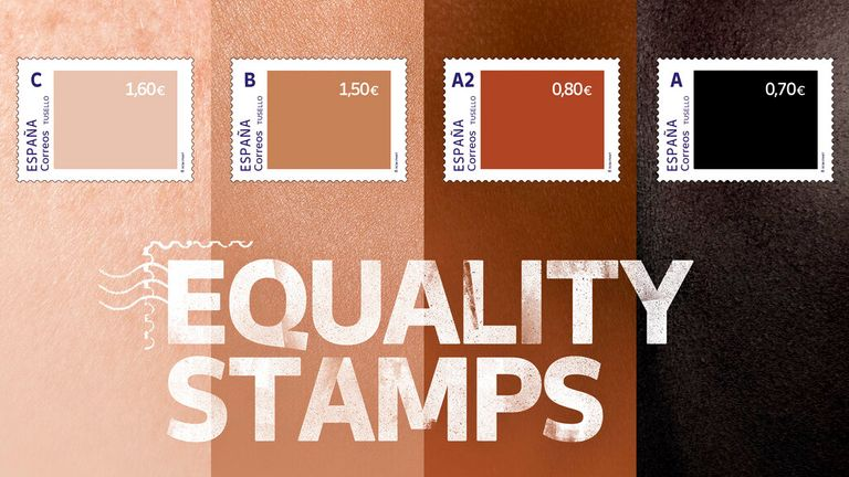 The 'Equality Stamps' have caused controversy in Spain. Pic: AP