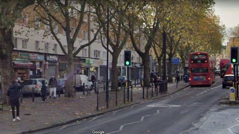 A view of Essex Road in Islington London where Tony Eastlake was stabbed to death nearby. Pic: Google StreetView