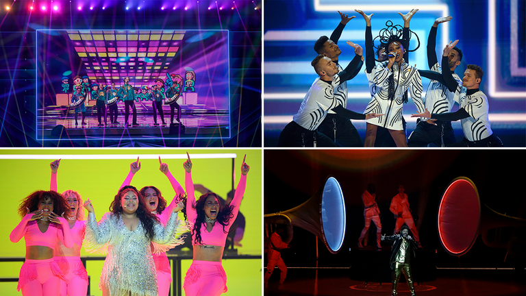 The Eurovision finals gets underway on Saturday. Pics: AP