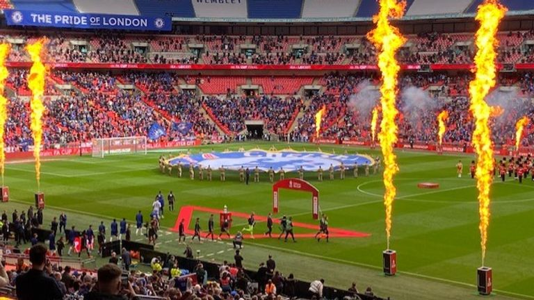Some 22,000 fans attended the football match at Wembley stadium