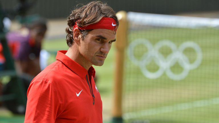 Roger Federer during the London Olympics in 2012. Pic: AP