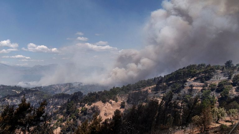 Smoke billowed from the fire, we moved east earlier this week, fanned by strong winds