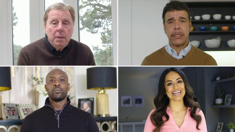 Some of the UK's best-known football pundits came together for the video