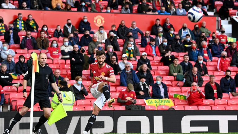 Old Trafford welcomed fans for the first time since March 2020, in the final home game of the season against already-relegated Fulham