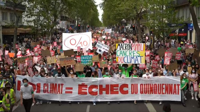 Climate protest in Paris