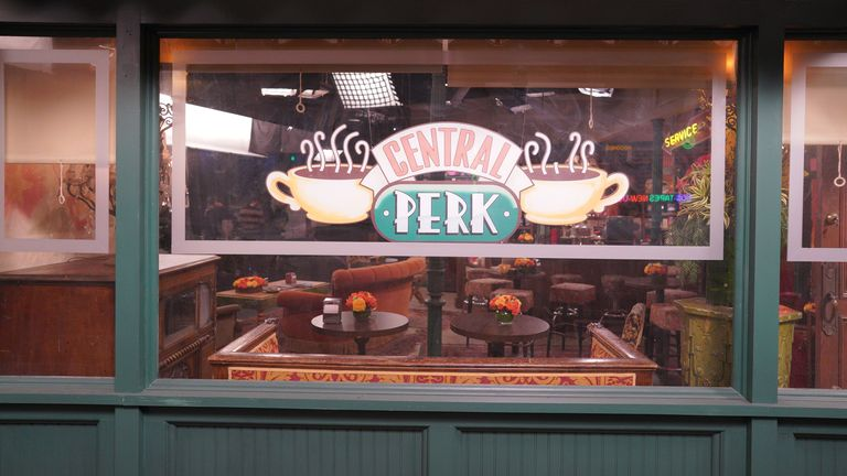 Central Perk features in Friends: The Reunion. Pic: Warner Media/ HBO/ Sky UK