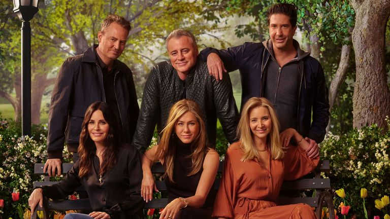 Friends: The Reunion sees the cast back together on screen for the first time in 17 years. Pic: Sky/ Warner Media/ HBO