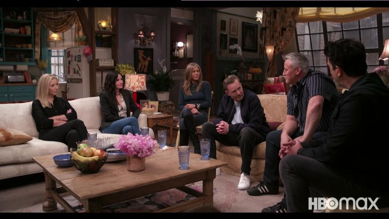 The cast reunited for the one-off unscripted special