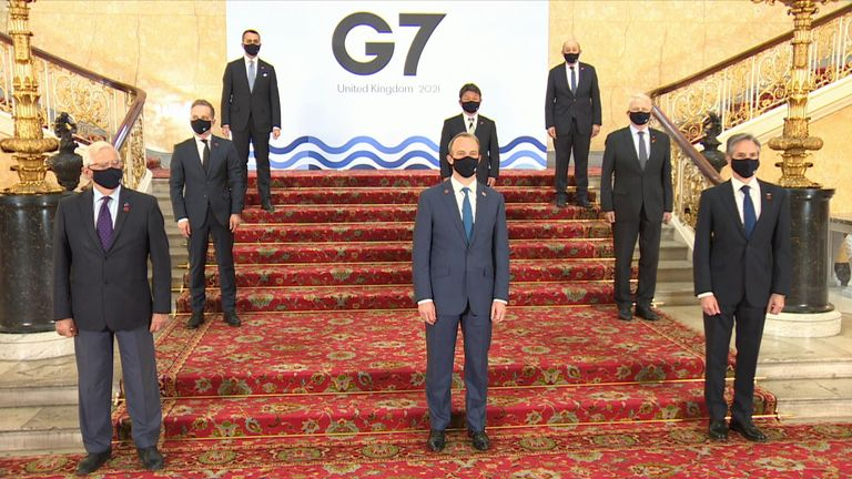 Dominic Raab at the G7 summit