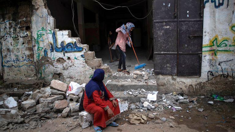 Beit Hanoun - northern Gaza Strip. Pic: AP