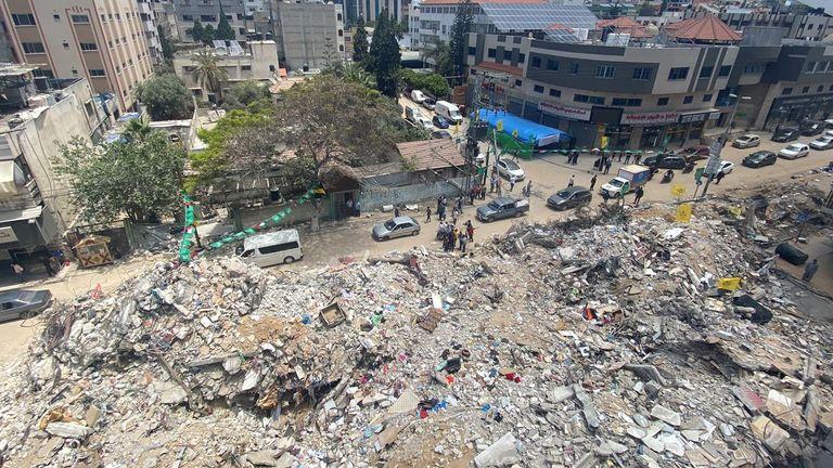 الوحده خیابان اصلی شهر غزه است