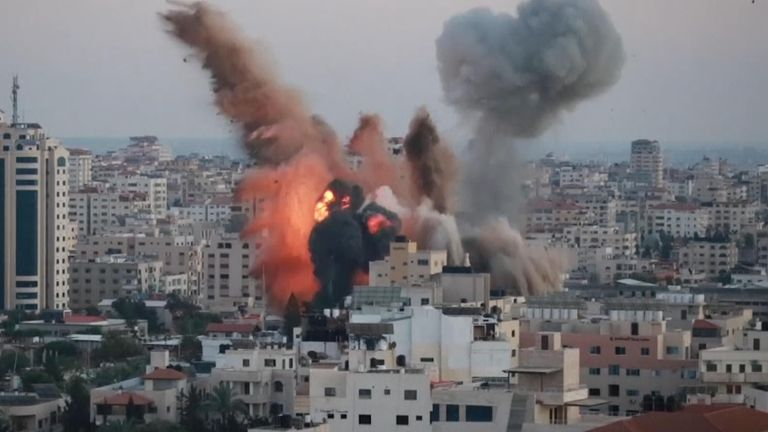 Israeli airstrikes target Hamas security compound in Gaza