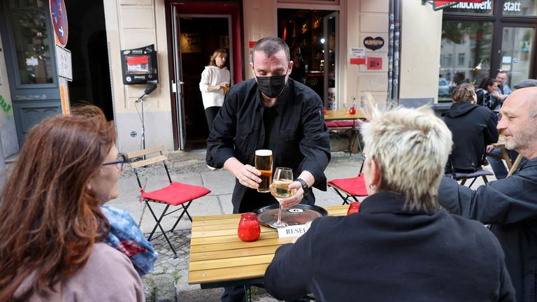 Outdoors hospitality has reopened in many parts of Germany