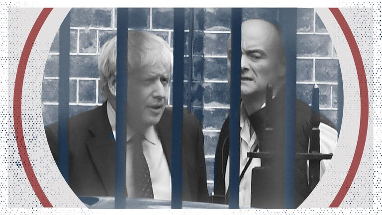 Boris Johnson and his former top adviser Dominic Cummings.