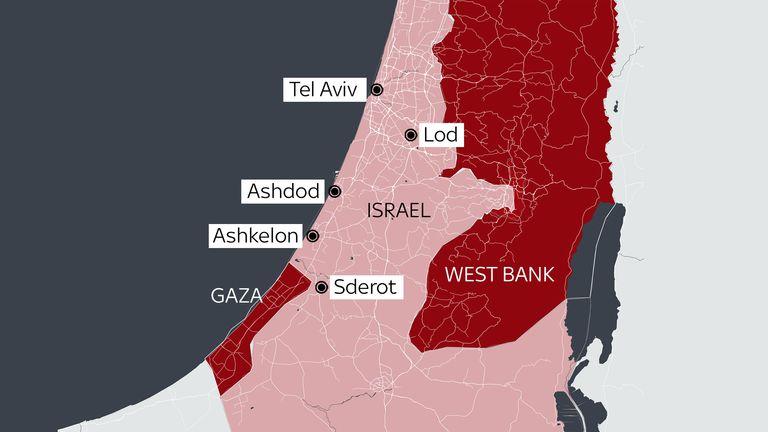 Hamas rockets have targeted several Israeli towns