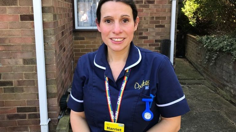 Community nurses have told Sky News for them the pandemic is just beginning - as they gear up to deal with increased caseloads in the home. Harriet Webster, a Respiratory Nurse Specialist