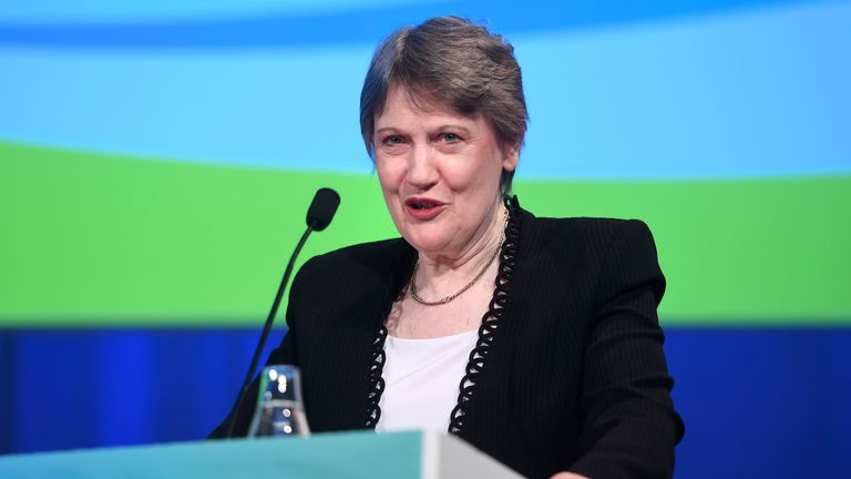 Helen Clark, head of the United Nations Development Programme, speaks at the launch of UN stabilization fund's report Human Development Report 2016 at Norra Latin in Stockholm, Tuesday, March 21, 2017. (Fredrik Sandberg/TT News Agency via AP)
