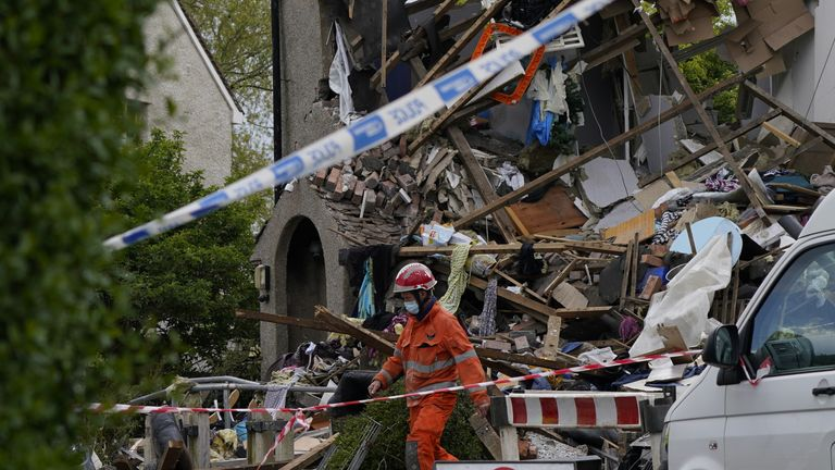 Two houses collapsed and another suffered 'significant damage,' police said