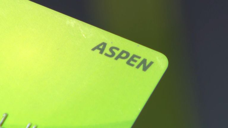 Aspen cards are topped up with £39.63 each week to help asylum seekers buy food, clothes and toiletries