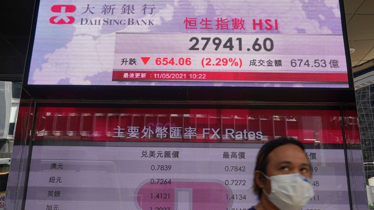 The rout began on Wall St before contagion struck Asia, including Hong Kong, followed by Europe. Pic: AP