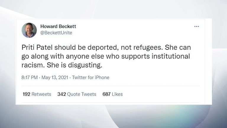 Howard Beckett deleted tweet