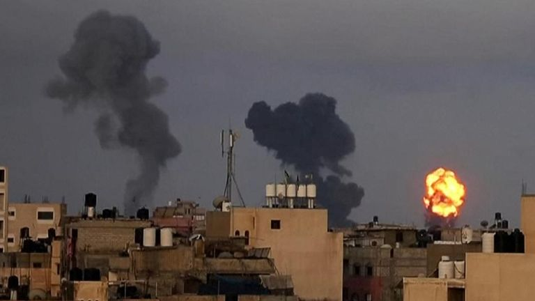 The IDF has carried out dozens of airstrikes across Gaza, targeting what it said were Hamas military installations and operatives.
