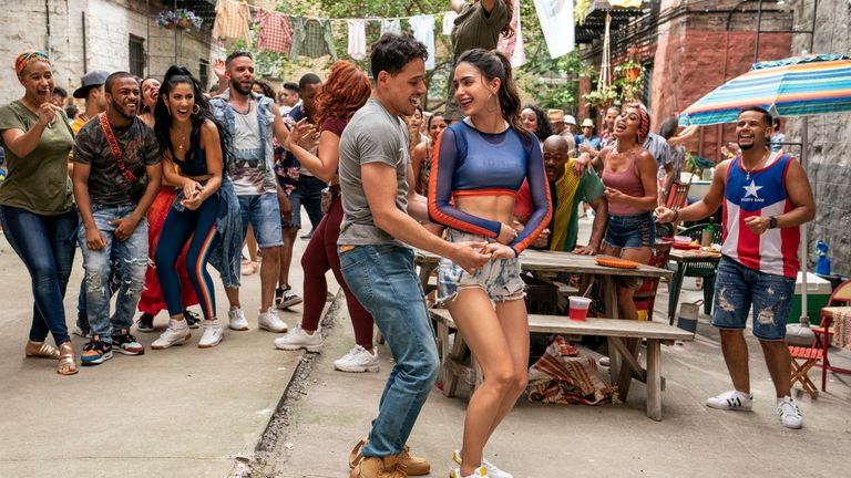 Anthony Ramos leads an ensemble cast for In The Heights. Pic: Macall Polay