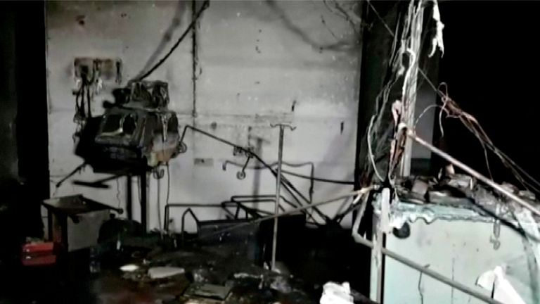 A fire on a COVID ward in India killed 18 people