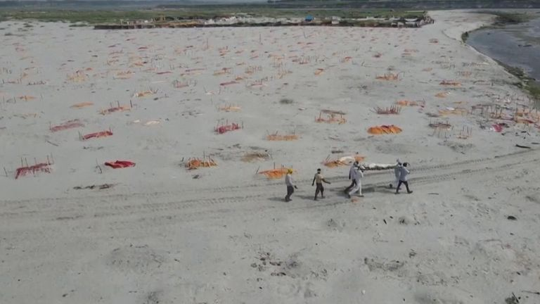 Mass graves on the Ganges