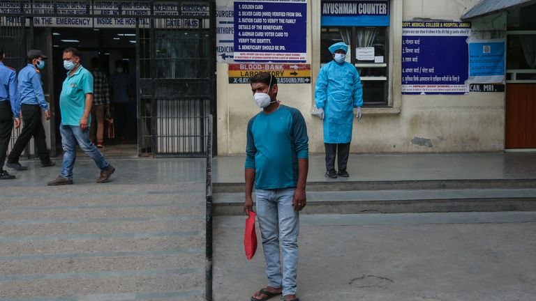 Hospitals are struggling to cope with the virus in India