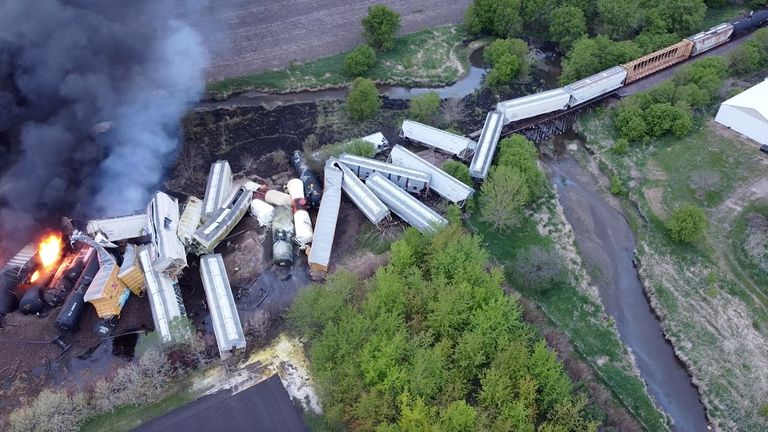 This was the second train derailment in the Midwest in a matter of days after a train derailed in Minnesota on Saturday